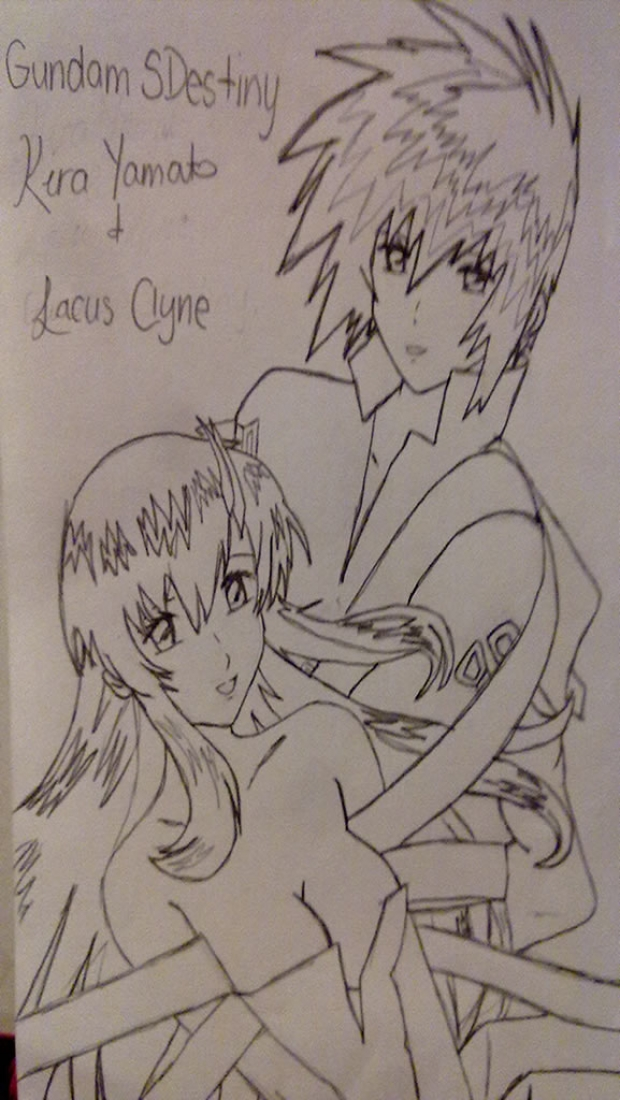 Kira and Lacus [ver.1] non-coloured