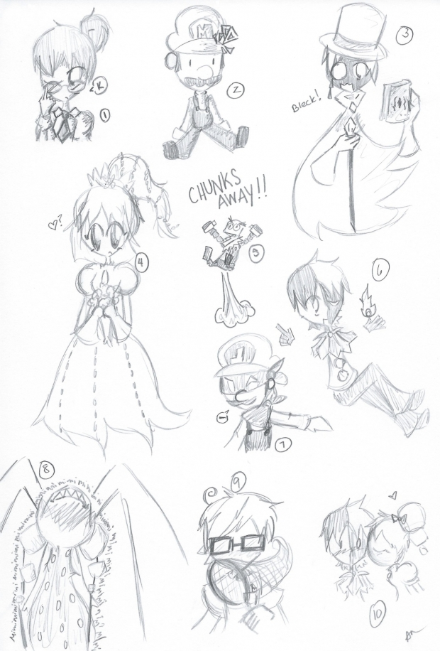 10 Sketches: Super Paper Mario