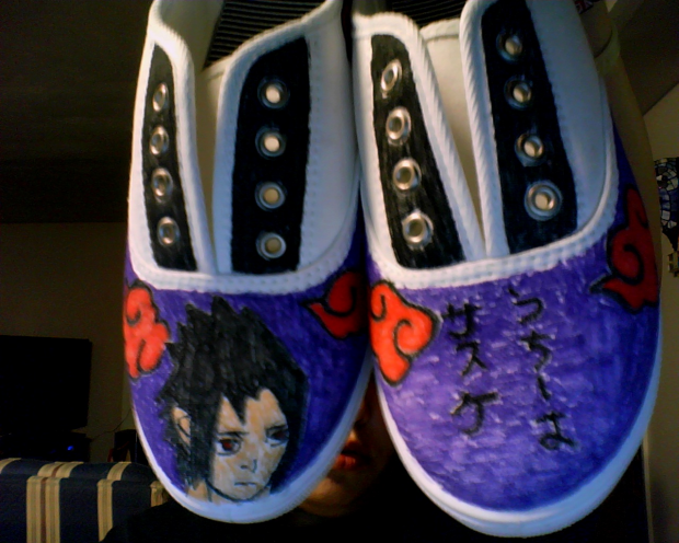 custom made Sasuke shoes!s