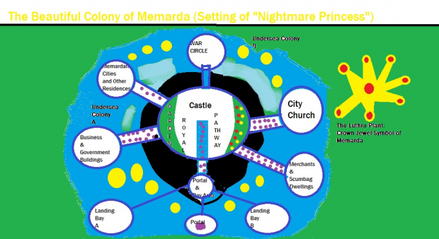 "The Colony of Memarda (Setting of ""Nightmare Princess"")"