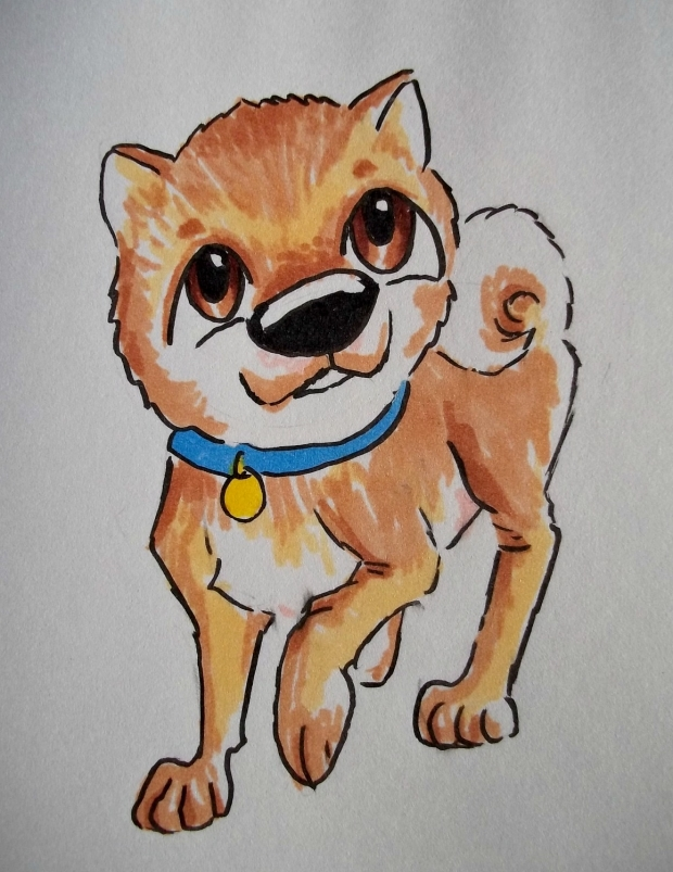 Akita chibi dog