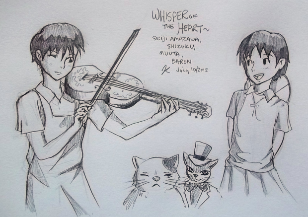 Seiji, Shizuku, &amp; cats-Whisper of the Heart