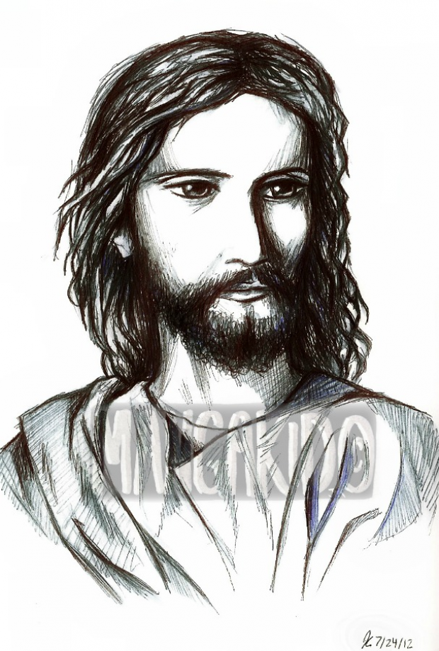 Jesus Portrait in Pen
