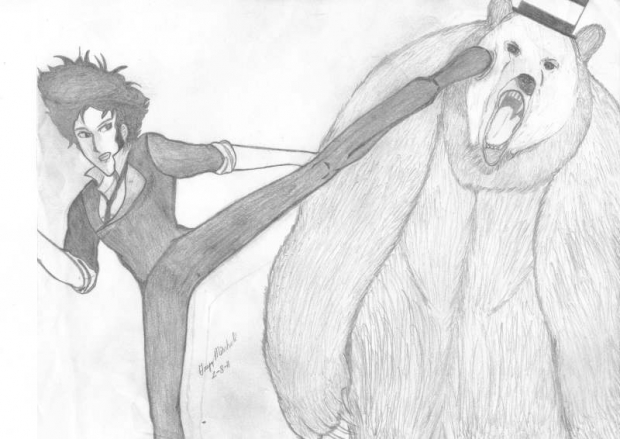 Spike vs Bear in Top Hat