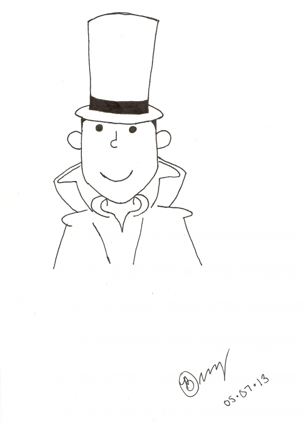 professor layton coloring pages - photo#10