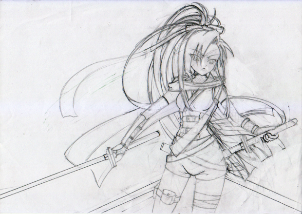 Ninja Girl (Rough Sketch)