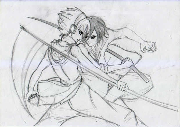 Sousuke Vs Zuzu (Rough Sketch)