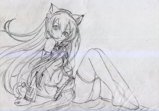 Neko Megurin Luka (Rough Sketch)