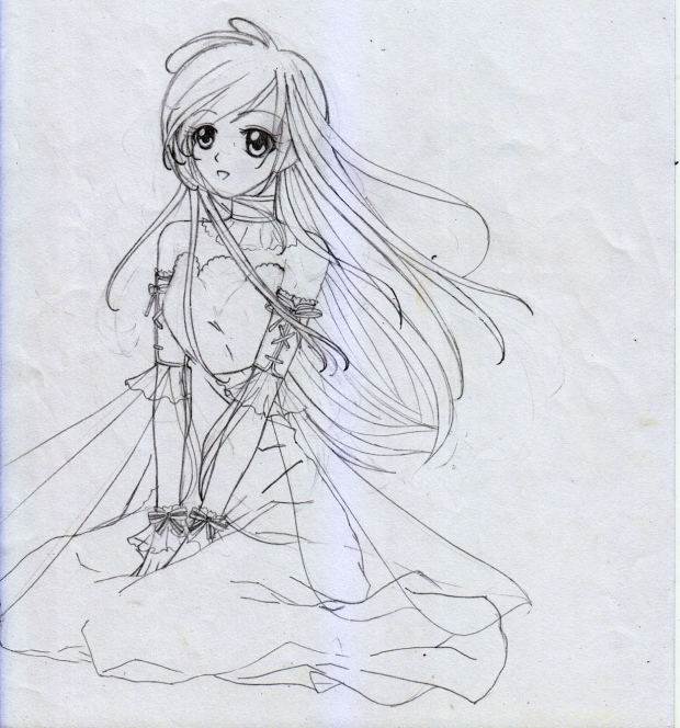 Girl in dress 1 (Rough Sketch)