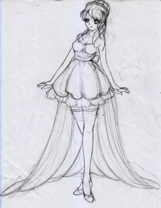 Girl in dress 2 (Rough Sketch)