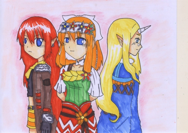 The Rune Factory 3 Heroine Triplets!