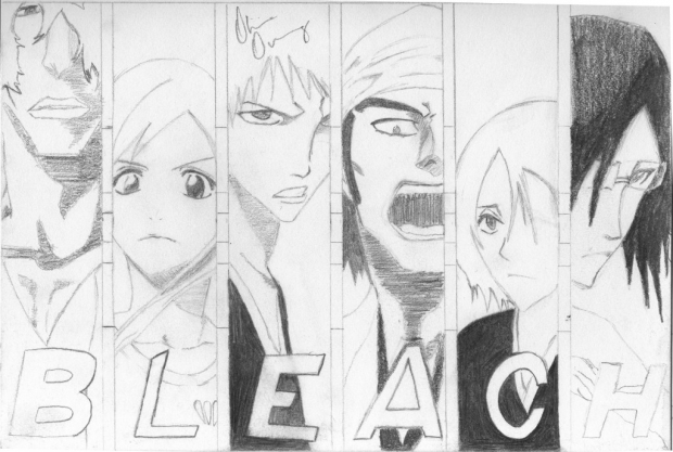 Bleach - Sado, Orihime, Ichigo, Hanatarou, and Uryuu