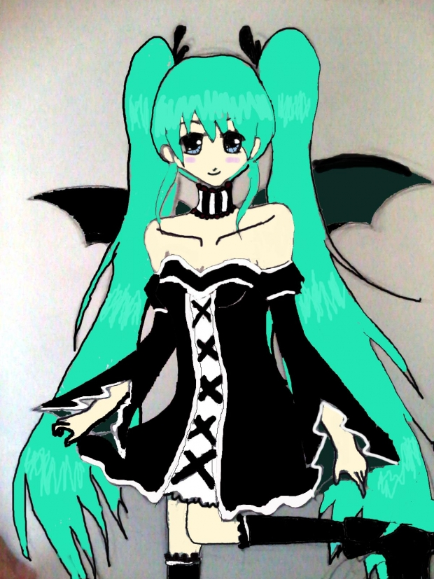 Hatsune Miku is now Gothic