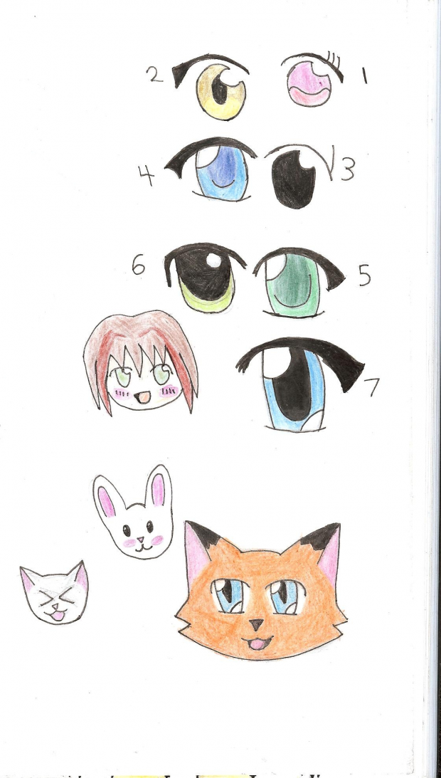 Random Anime Eyes And Cute Things