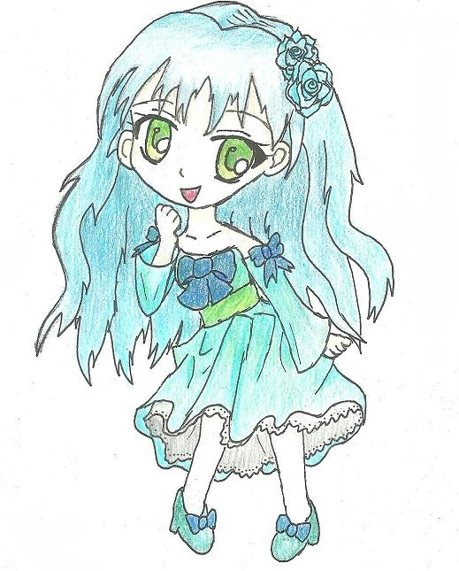 Blue chibi girl