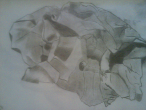 Crumpled paper