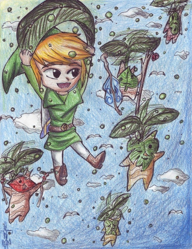 Wind Waker- Link with the Koroks