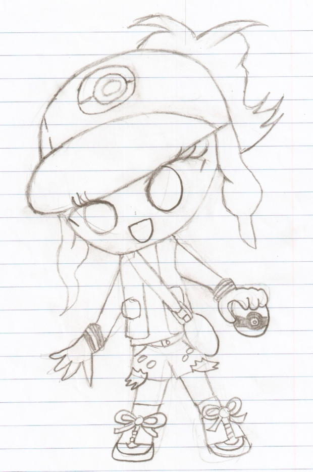 Chibi Pokemon Trainer Hilda