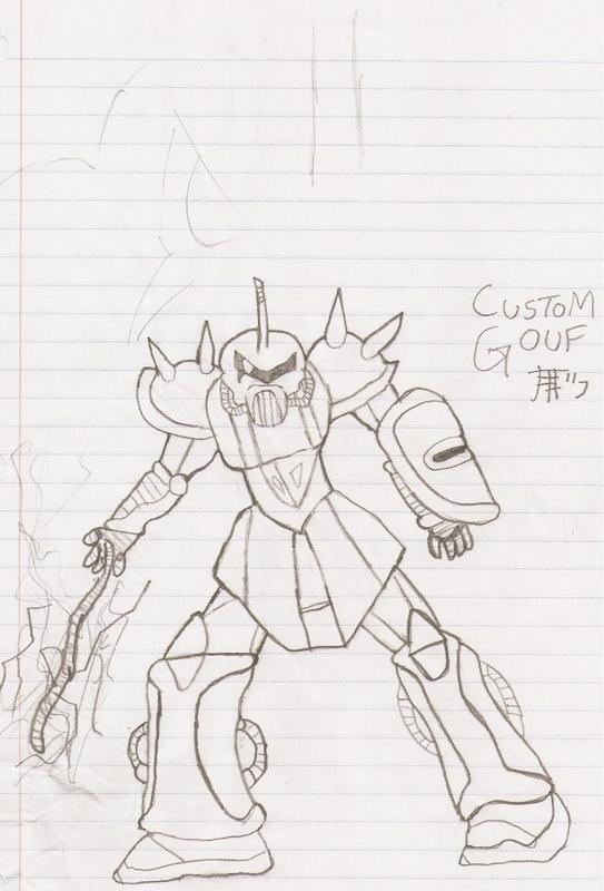 The Gouf Custom Drawing