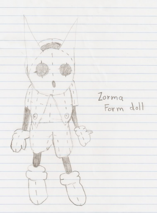 An Zorma Doll Drawing Design