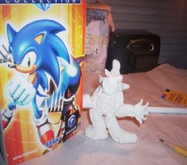 Metal Sonic Clay Figure