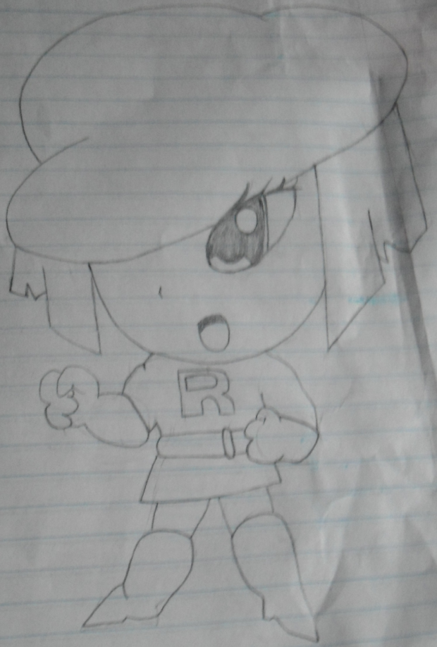 Chibi Team Rocket Grunt Girl
