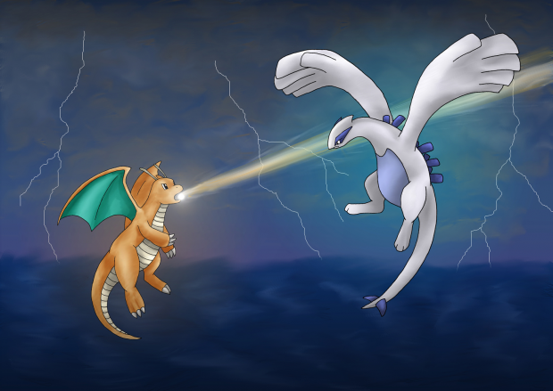 Dragonite vs. Lugia