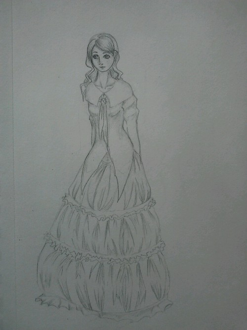 Lady in a dress