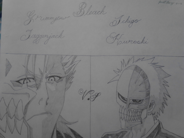 Grimmjow vs Ichigo drawing