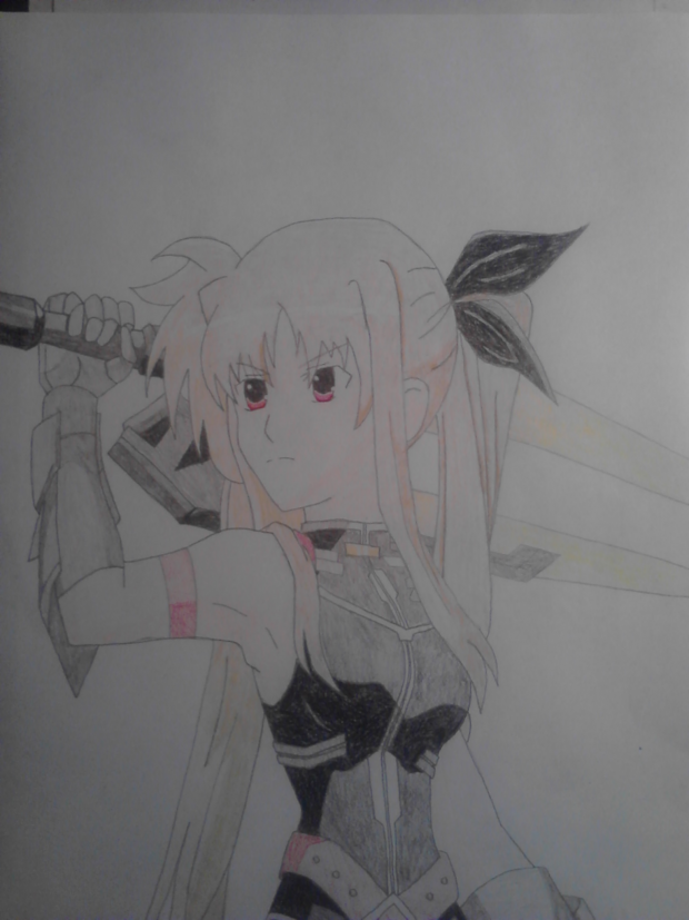 Anime girl drawing