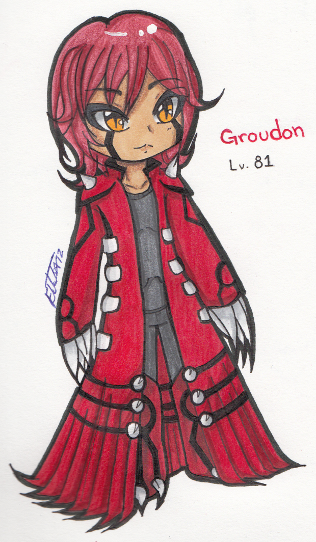 My version Groudon Gijinka