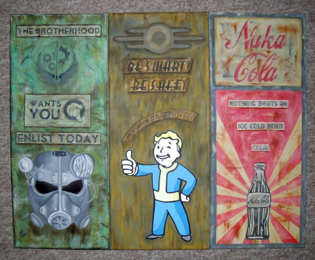 Fallout 3 - My Trio of Paintings