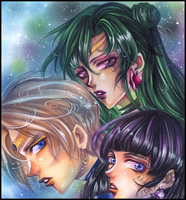Pluto, Uranus, and Saturn