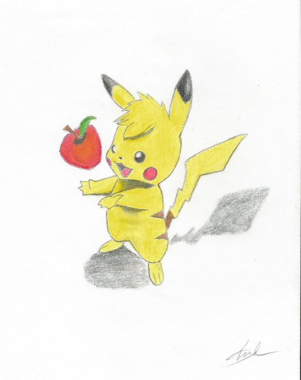 Give pikachu and apple :)