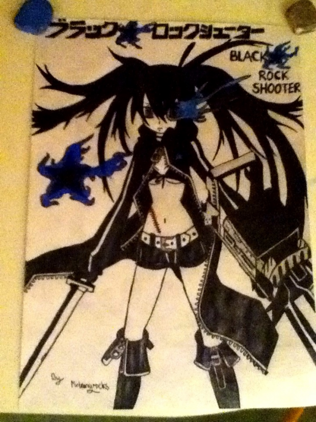 My Black Rock Shooter Drawing ^^