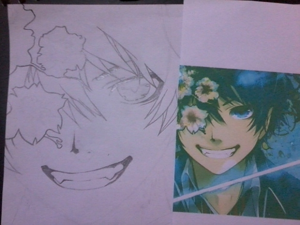 rin okumura (ao no exorcist) sketch